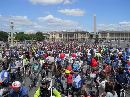 Grosse affluence place de la Concorde
